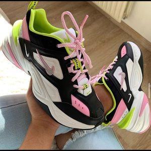 NWT new women's Nike M2K Tekno black pink white